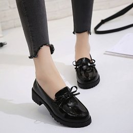 Women casual shoes wild bow party shoes with ankle