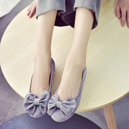 Women flat shoes fashion shoes non-slip shoes ballet bun Peas shoes