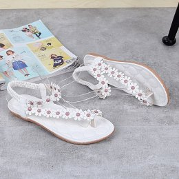 Women casual fashion style soft flat sandals female sandals white