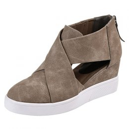 Casual shoes flat shoes zippers frosted match